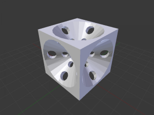 Cube With Holes