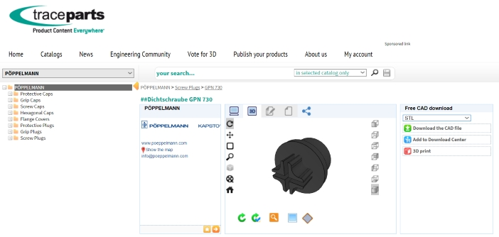 Autodesk Fusion 360 integruje się z bibliotekami modeli